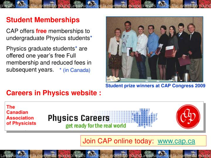 Careers in Physics website :