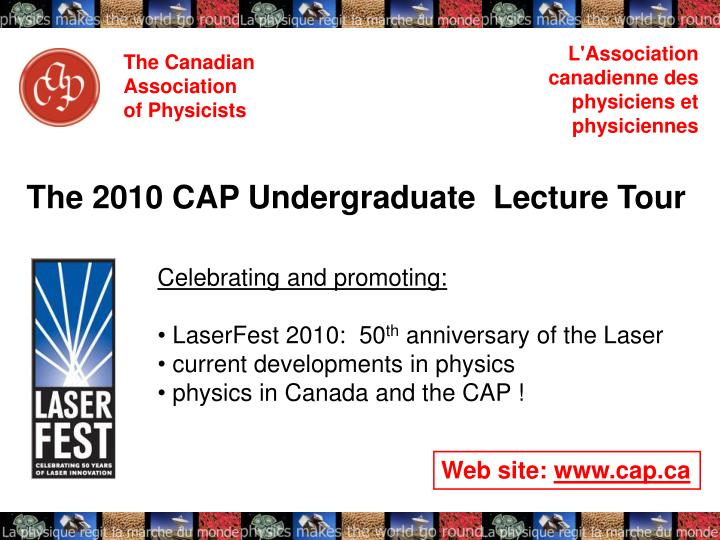 The canadian association of physicists