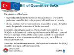 bill of quantities boqs