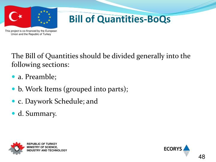 Bill of Quantities-BoQs