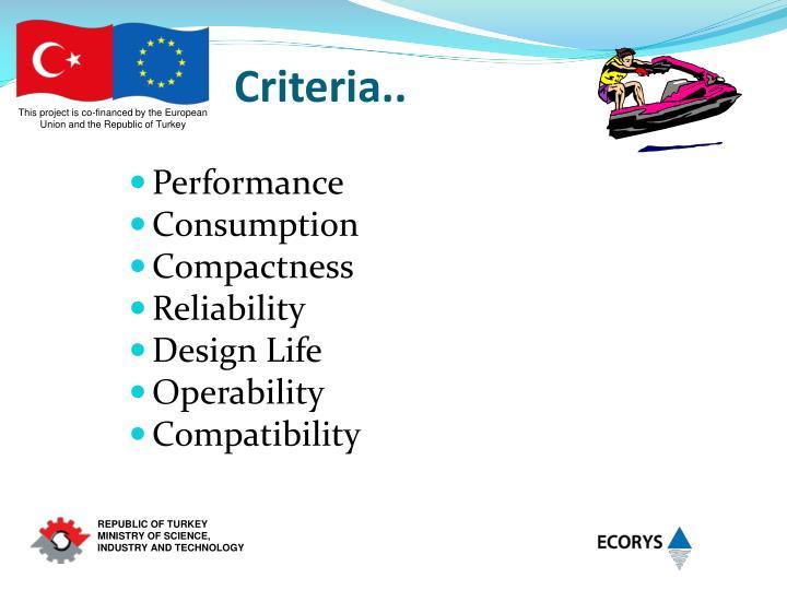 Criteria..