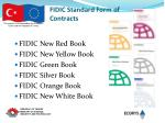 fidic standard form of contracts