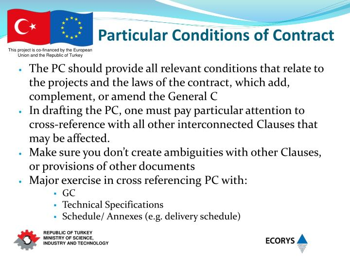 Particular Conditions of Contract