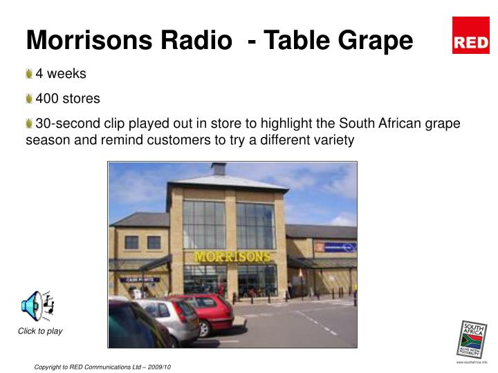 Morrisons Radio  - Table Grape