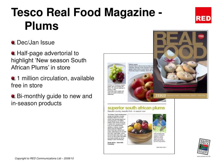 Tesco Real Food Magazine - Plums