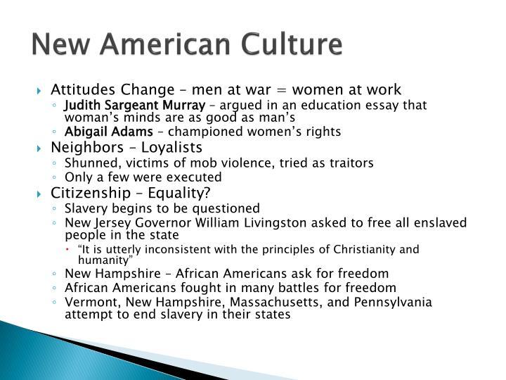 New American Culture