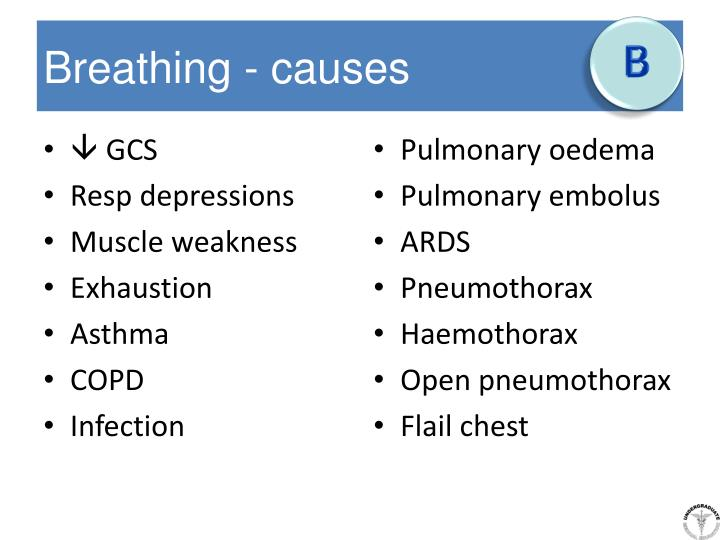 Breathing - causes