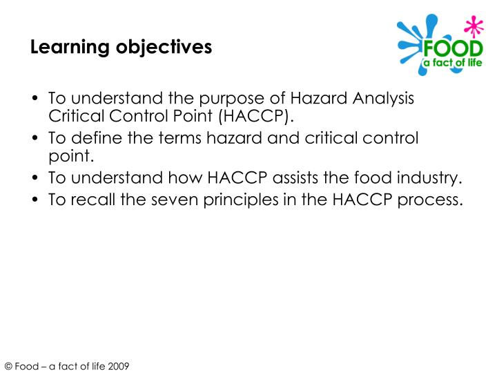 Ppt hazard analysis critical control point haccp - Haccp definition cuisine ...