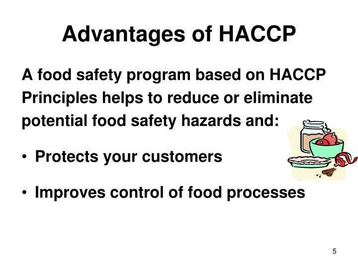 Advantages of HACCP