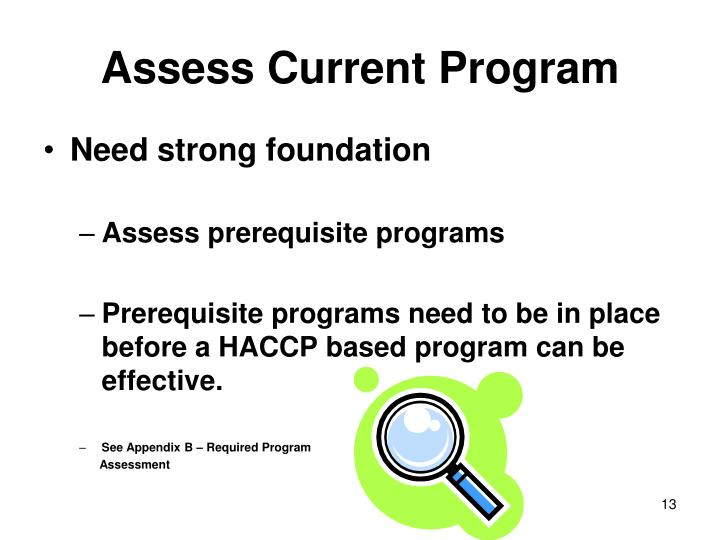 Assess Current Program