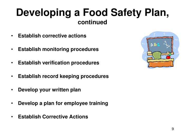 Developing a Food Safety Plan,