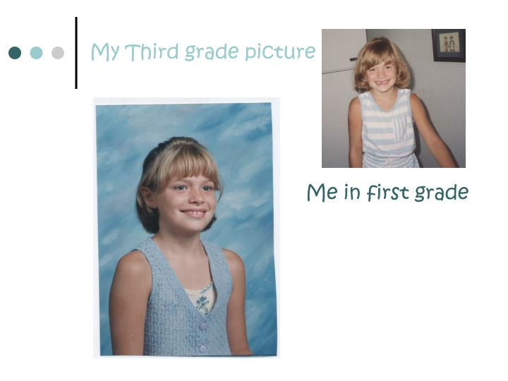 My third grade picture