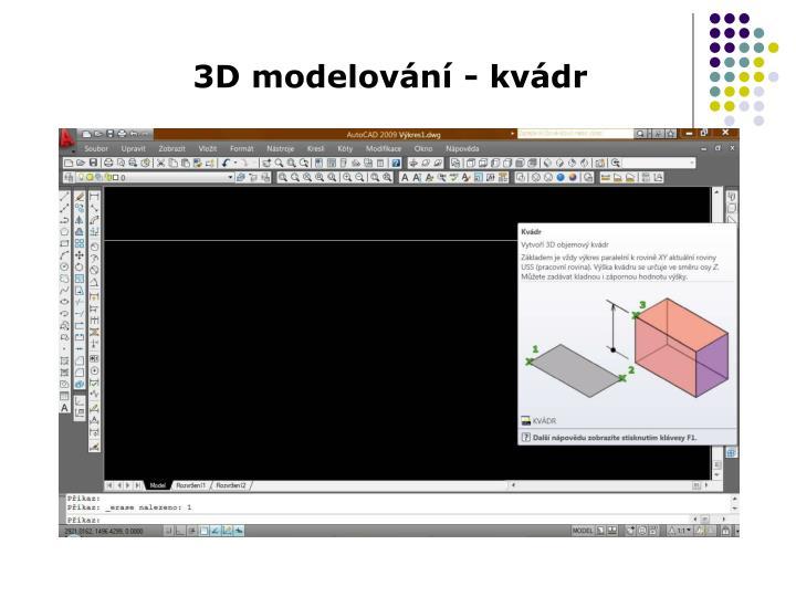 3D modelování - kvádr