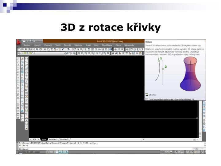 3D z rotace křivky
