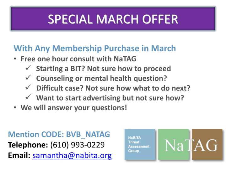 SPECIAL MARCH OFFER