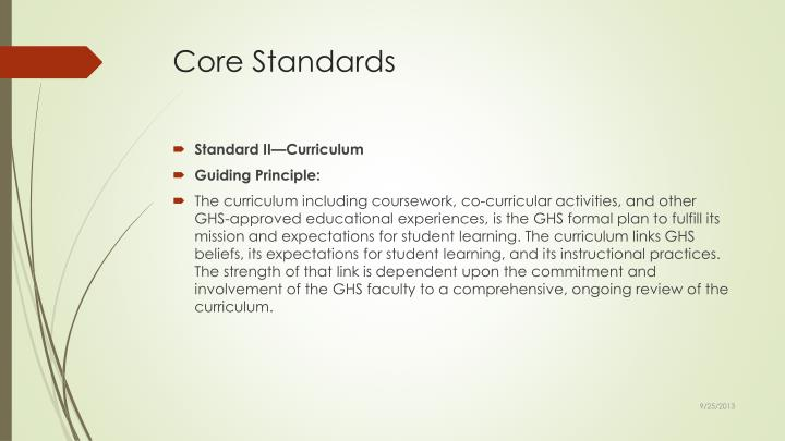 Core Standards