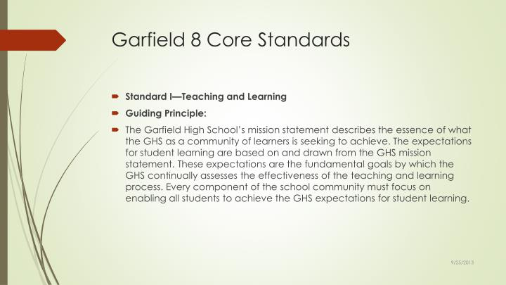 Garfield 8 Core Standards