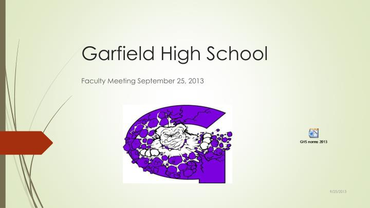 Garfield high school