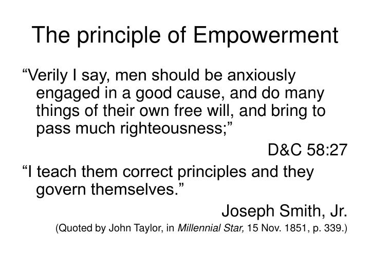 The principle of Empowerment
