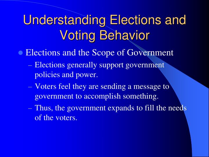 Understanding Elections and Voting Behavior