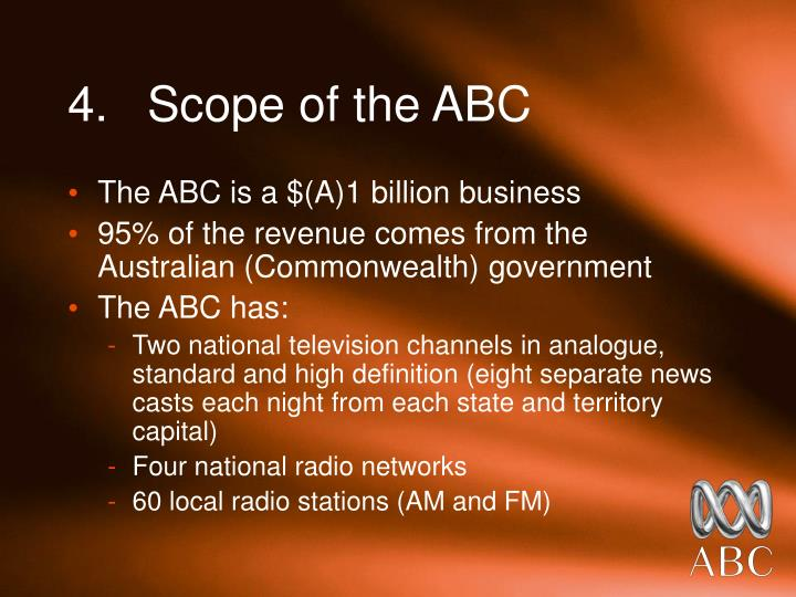 4.	Scope of the ABC
