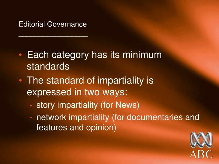 Editorial Governance