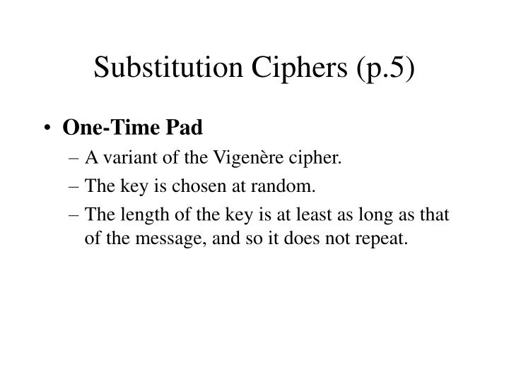 Substitution Ciphers (p.5)