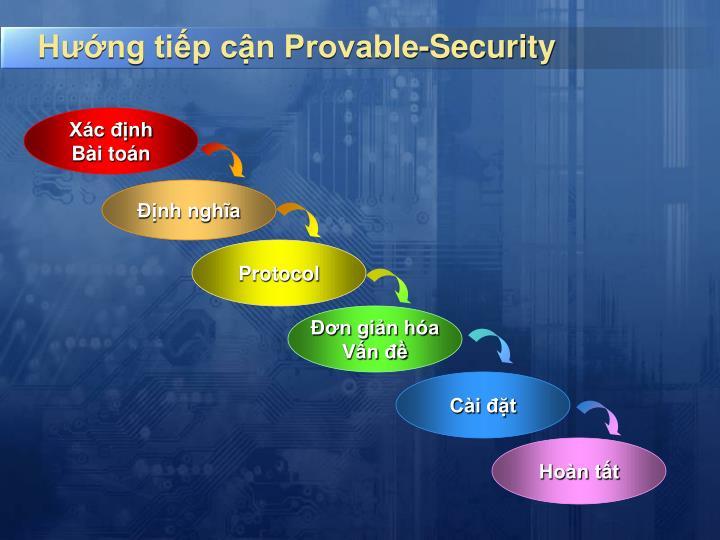 Hướng tiếp cận Provable-Security