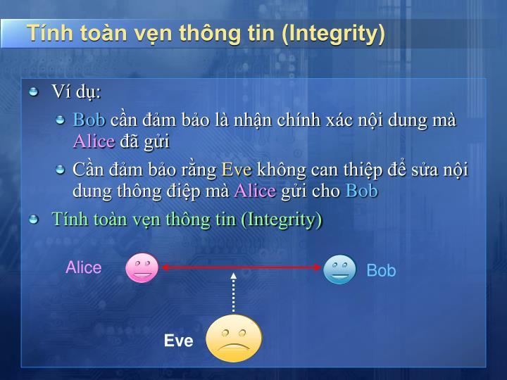 Tính toàn vẹn thông tin (Integrity)