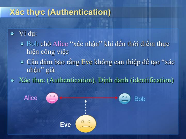 Xác thực (Authentication)