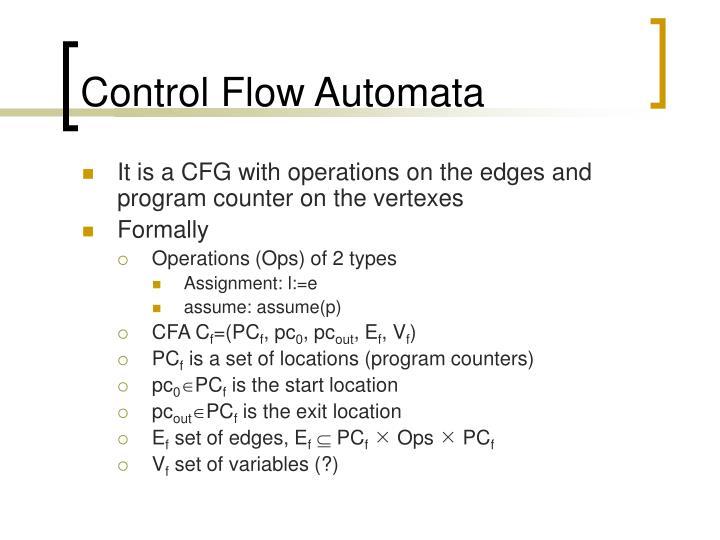 Control Flow Automata
