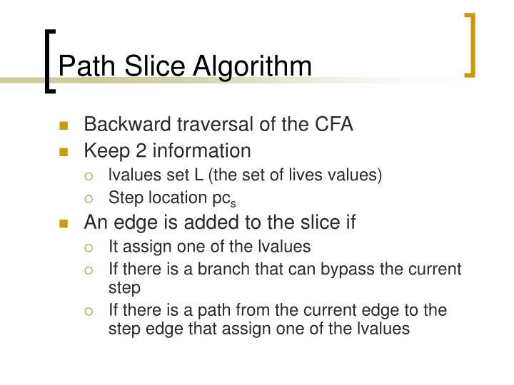 Path Slice Algorithm