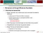 efficiencies roundtable