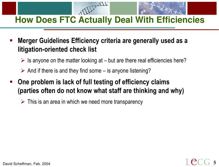 How Does FTC Actually Deal With Efficiencies