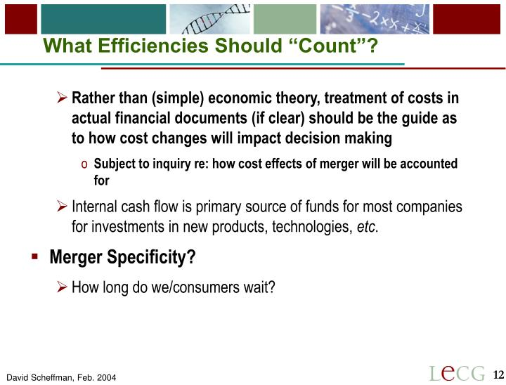 "What Efficiencies Should ""Count""?"