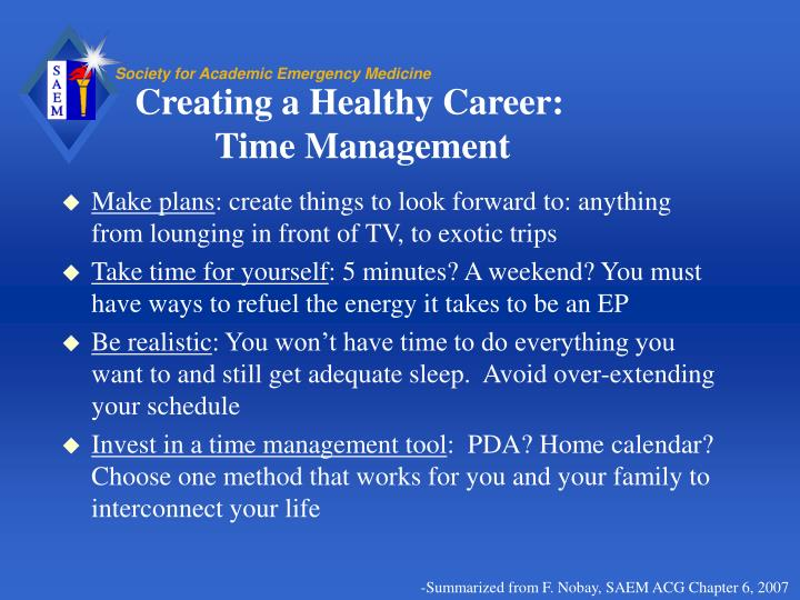 Creating a Healthy Career: