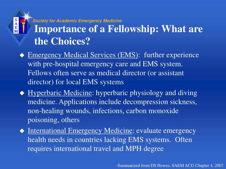 Importance of a Fellowship: What are the Choices?