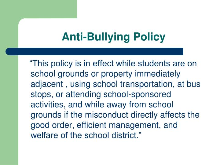 Anti-Bullying Policy