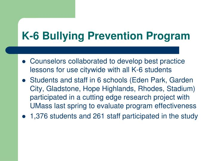 K-6 Bullying Prevention Program