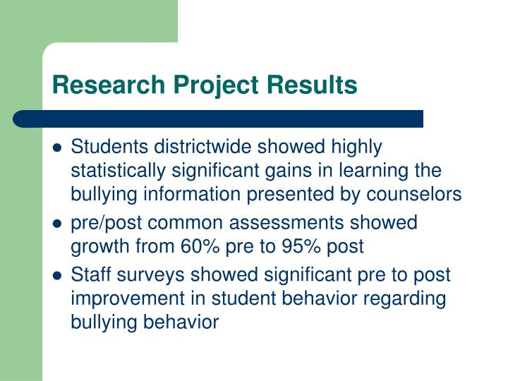 Research Project Results