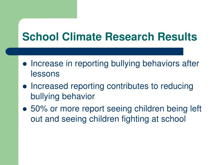 School Climate Research Results