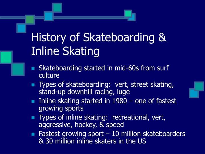 History of Skateboarding & Inline Skating