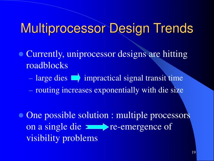 Multiprocessor Design Trends