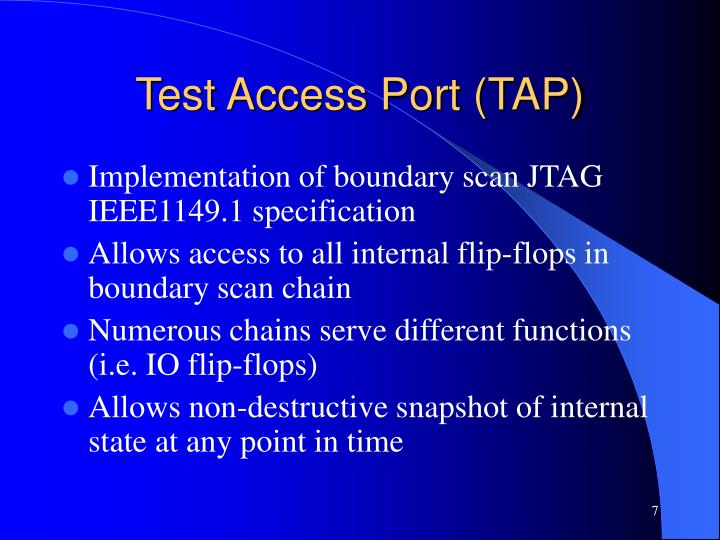 Test Access Port (TAP)