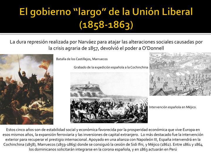 """El gobierno """"largo"""" de la Unión Liberal (1858-1863)"""