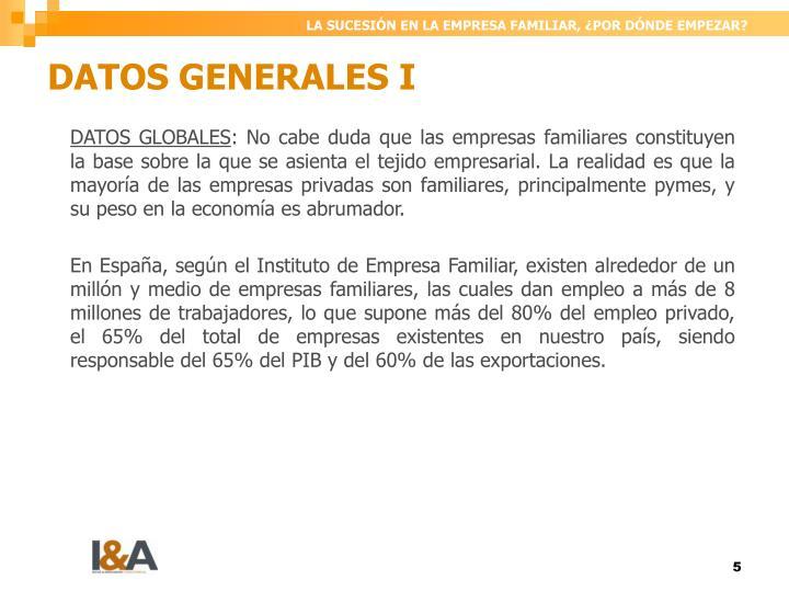 DATOS GENERALES I