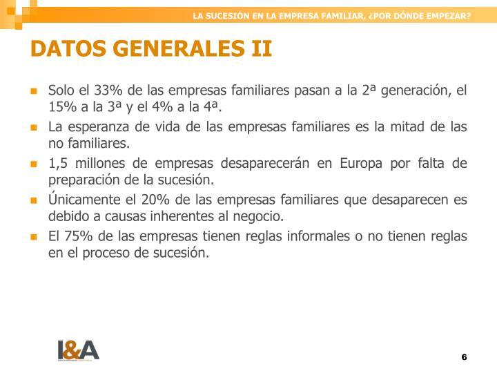 DATOS GENERALES II