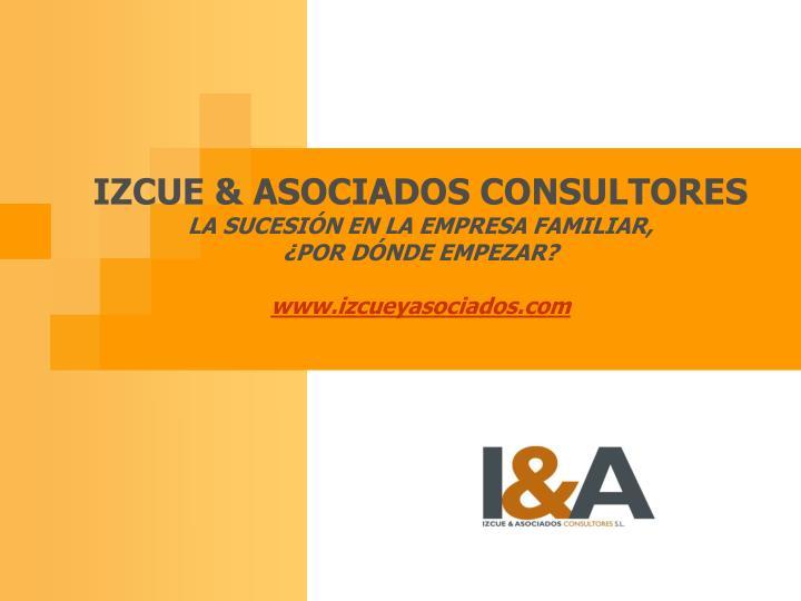 IZCUE & ASOCIADOS CONSULTORES