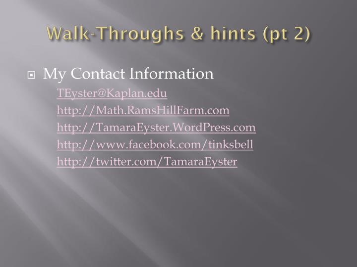 Walk-