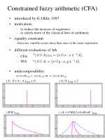 constrained fuzzy arithmetic cfa